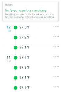 Temperature readings and advice